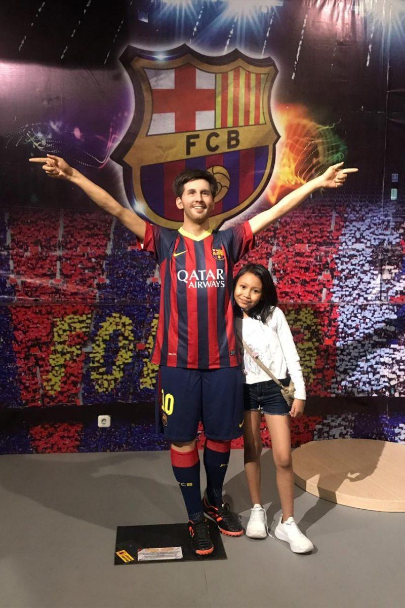 Foto sama Messi di Jatim Park 3 Malang
